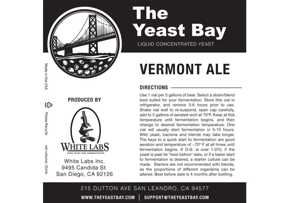 The Yeast Bay Vermont Ale