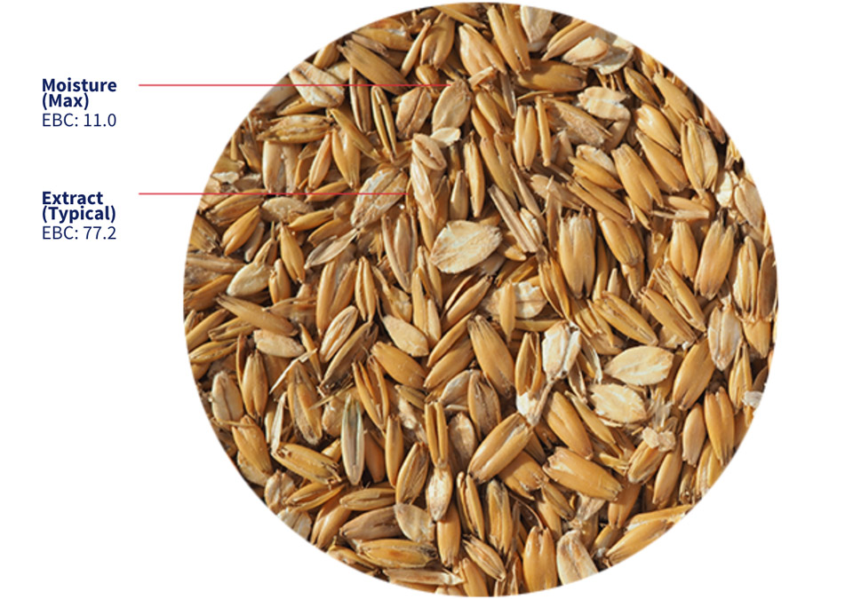 Crisp Flaked Torrefied Oats 1kg