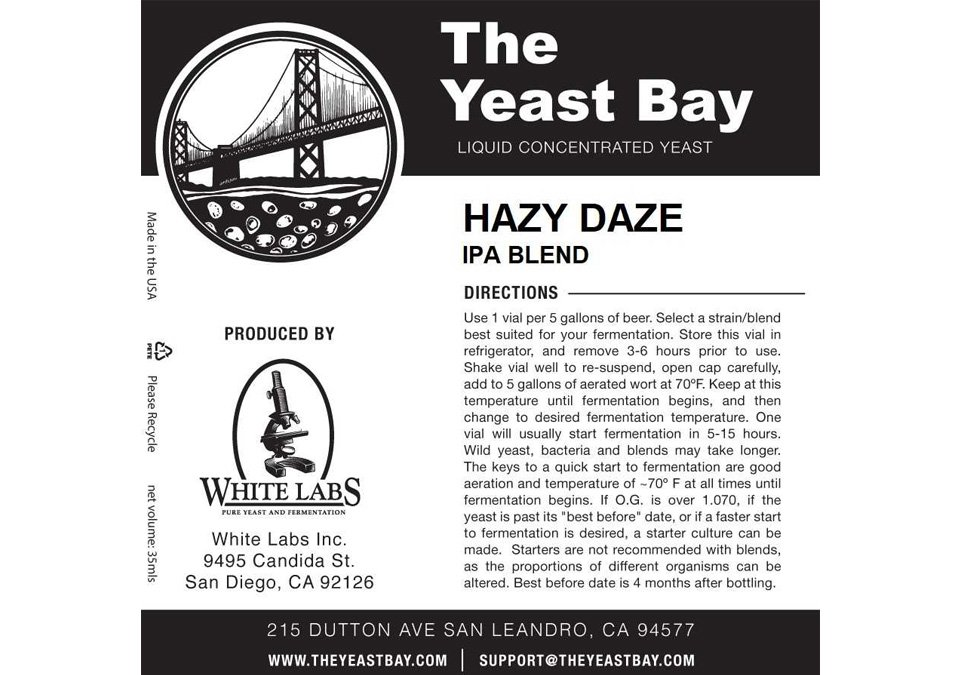 The Yeast Bay Hazy Daze Yeast